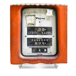 Shower Curtain featuring the photograph Old Gas Pump by Tom Singleton