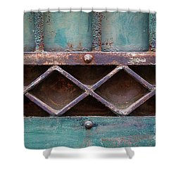 Shower Curtain featuring the photograph Old Gate Geometric Detail by Elena Elisseeva