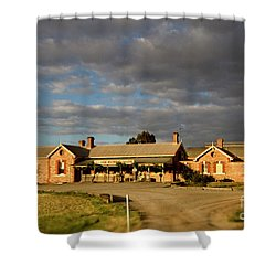 Shower Curtain featuring the photograph Old Ghan Railway Restaurant by Douglas Barnard