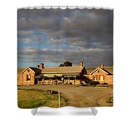 Old Ghan Railway Restaurant Shower Curtain by Douglas Barnard