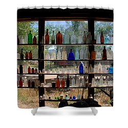 Old Glass Shower Curtain by David Lee Thompson