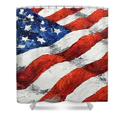 Old Glory II Shower Curtain