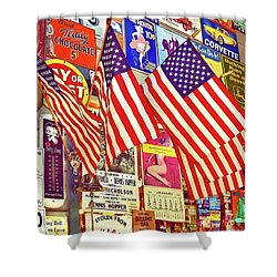 Shower Curtain featuring the photograph Old Glory by Joan Reese