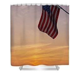 Shower Curtain featuring the photograph Old Glory by Mark Papke