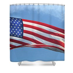 Old Glory Never Fades Shower Curtain