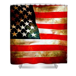 Old Glory Patriot Flag Shower Curtain by Phill Petrovic