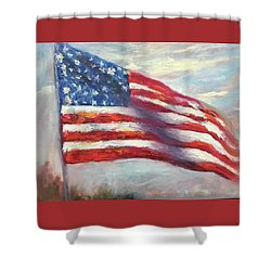 Old Glory Vi Shower Curtain