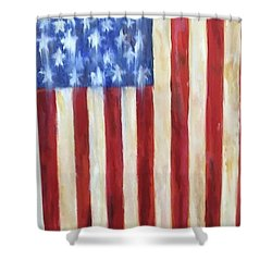 Old Glory Vii Shower Curtain