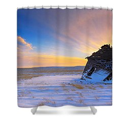 Shower Curtain featuring the photograph Old Glow  by Kadek Susanto