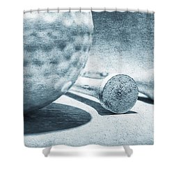 Old Golf Ball And Tees Shower Curtain