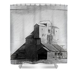 Old Grain Elevator Shower Curtain