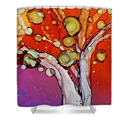 Old Gray Tree Shower Curtain