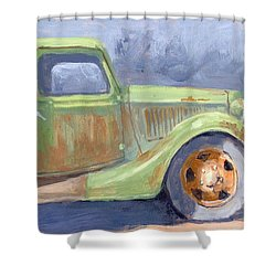 Old Green Ford Shower Curtain