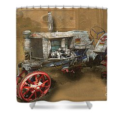 Old Grey Tractor Shower Curtain
