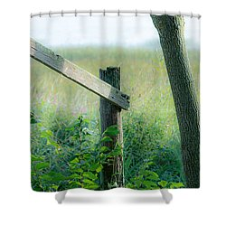 Old Hand Rail Shower Curtain
