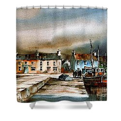 Old Harbour Dingle, Kerry Shower Curtain