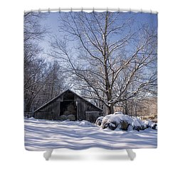 Shower Curtain featuring the photograph Old Hay Barn Boxley Valley by Michael Dougherty