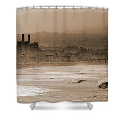 Old Hermosa Beach Shower Curtain by Ed Clark