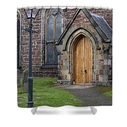 Old High Church - Inverness Shower Curtain by Amy Fearn
