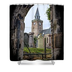 Old High St. Stephen's Church Shower Curtain by Amy Fearn