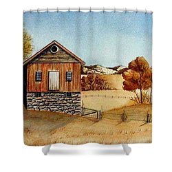 Old Homestead Shower Curtain by Jimmy Smith