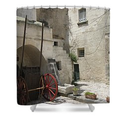Old Horsecart In Matera Shower Curtain