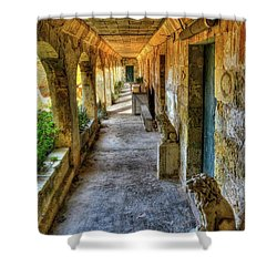 Old Hospital Corridor In Comino Shower Curtain by Stephan Grixti