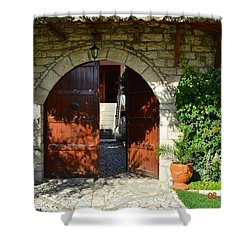 Old House Door Shower Curtain