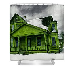 Shower Curtain featuring the photograph Old House In Roslyn Washington by Jeff Swan