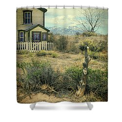 Shower Curtain featuring the photograph Old House Near Mountians by Jill Battaglia