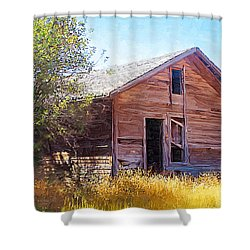 Shower Curtain featuring the photograph Old House by Susan Kinney