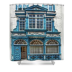 Shower Curtain featuring the digital art Old Irish Architecture by Hanny Heim