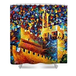 Old Jerusalem Shower Curtain by Leonid Afremov