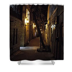 Old Jerusalem Shower Curtain by Shlomo Zangilevitch
