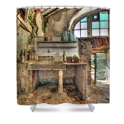 Old Kitchen - Vecchia Cucina Shower Curtain