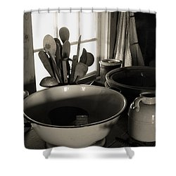 Shower Curtain featuring the photograph Old Kitchen Stuff by Joanne Coyle