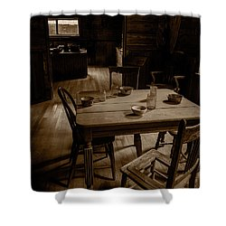 Old Kitchen Table Shower Curtain