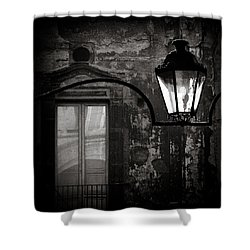 Old Lamp Shower Curtain by Dave Bowman
