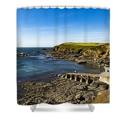 Shower Curtain featuring the photograph Old Life Boat Station by Brian Roscorla