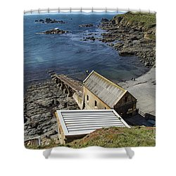 Shower Curtain featuring the photograph Old Lifeboat Station by Brian Roscorla