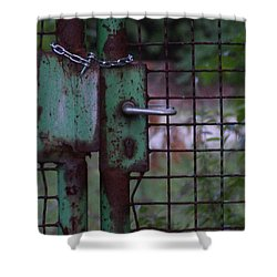 Old, Locked And Rusty Shower Curtain