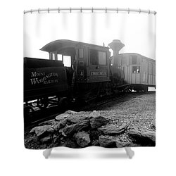 Old Locomotive Shower Curtain by Sebastian Musial