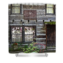 Old Log Building Shower Curtain