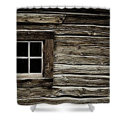 Shower Curtain featuring the photograph Old Log Cabin by Brad Allen Fine Art