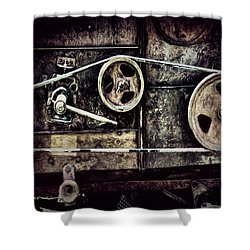 Old Machine Shower Curtain by Pat Cook