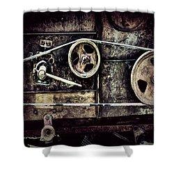 Old Machine Shower Curtain