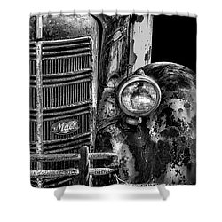 Old Mack Truck Front End Shower Curtain