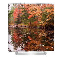 Shower Curtain featuring the photograph Old Main Road Stream by Jeff Folger