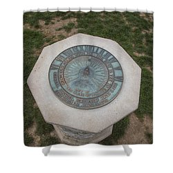 Old Main Statue  Shower Curtain by John McGraw
