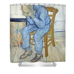 Old Man In Sorrow Shower Curtain by Vincent van Gogh